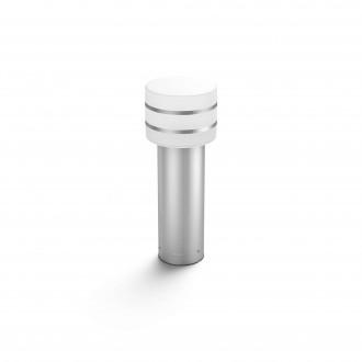 PHILIPS 17405/47/P0 | PHILIPS-hue-Tuar Philips podna hue smart rasvjeta 40cm jačina svjetlosti se može podešavati 1x E27 806lm 2700K IP44 inox, bijelo
