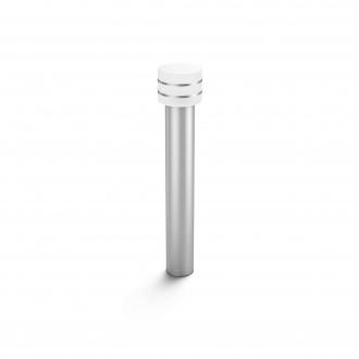 PHILIPS 17406/47/P0 | PHILIPS-hue_Tuar Philips podna hue smart rasvjeta 77cm jačina svjetlosti se može podešavati 1x E27 806lm 2700K IP44 inox, bijelo