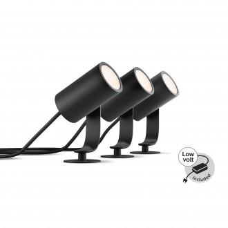 PHILIPS 17414/30/P7 | PHILIPS-hue-Lily Philips ubodne svjetiljke BASE hue smart rasvjeta + LED napojna jedinica jačina svjetlosti se može podešavati, sa podešavanjem temperature boje, promjenjive boje, trodijelni set 3x LED 1920lm 2700 <-> 6500K IP6