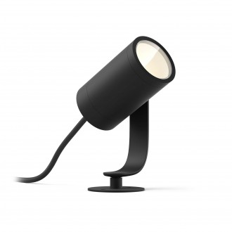 PHILIPS 17415/30/P7 | PHILIPS-hue-Lily Philips ubodne svjetiljke 24V EXT. hue smart rasvjeta jačina svjetlosti se može podešavati, sa podešavanjem temperature boje, promjenjive boje 1x LED 640lm 2700 <-> 6500K IP65 crno