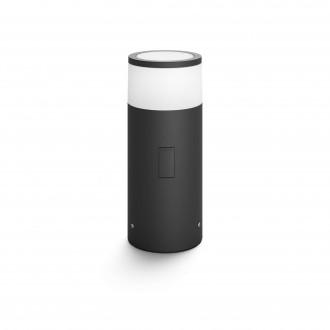 PHILIPS 17420/30/P7 | PHILIPS-hue-Calla Philips podna 24V EXT. hue smart rasvjeta cilindar 25,2cm jačina svjetlosti se može podešavati, sa podešavanjem temperature boje, promjenjive boje 1x LED 640lm 2700 <-> 6500K IP65 crno, bijelo