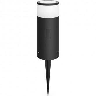 PHILIPS 17420/93/P7 | PHILIPS-hue-Calla Philips podna hue smart rasvjeta 25,2cm jačina svjetlosti se može podešavati, sa podešavanjem temperature boje, promjenjive boje 1x LED 640lm 2200 <-> 6500K IP65 antracit siva, bijelo