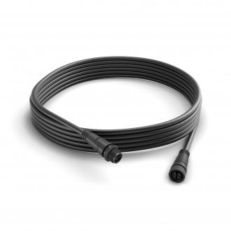 PHILIPS 17424/30/PN | Philips priključni kabel hue smart rasvjeta IP67 crno