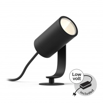 PHILIPS 17428/30/P7 | PHILIPS-hue-Lily Philips ubodne svjetiljke BASE hue smart rasvjeta + LED napojna jedinica jačina svjetlosti se može podešavati, sa podešavanjem temperature boje, promjenjive boje 1x LED 640lm 2700 <-> 6500K IP65 crno
