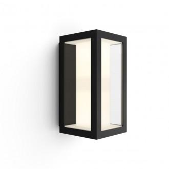 PHILIPS 17429/30/P7 | PHILIPS-hue-Impress Philips zidna hue smart rasvjeta četvorougaoni jačina svjetlosti se može podešavati, sa podešavanjem temperature boje, promjenjive boje 2x LED 1200lm 2700 <-> 6500K IP44 crno, prozirno, bijelo