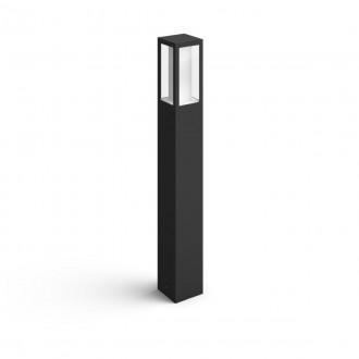PHILIPS 17432/30/P7 | PHILIPS-hue-Impress Philips podna hue smart rasvjeta četvorougaoni 77cm jačina svjetlosti se može podešavati, sa podešavanjem temperature boje, promjenjive boje 2x LED 1200lm 2700 <-> 6500K IP44 crno, bijelo