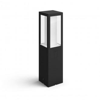 PHILIPS 17434/30/P7 | PHILIPS-hue-Impress Philips podna 24V EXT. hue smart rasvjeta četvorougaoni 40cm jačina svjetlosti se može podešavati, sa podešavanjem temperature boje, promjenjive boje 2x LED 1200lm 2700 <-> 6500K IP44 crno, bijelo