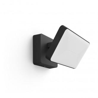 PHILIPS 17435/30/P7   PHILIPS-hue-Discover Philips reflektor hue smart rasvjeta četvorougaoni jačina svjetlosti se može podešavati, sa podešavanjem temperature boje, promjenjive boje 2x LED 2300lm 2700 <-> 6500K IP44 crno, bijelo