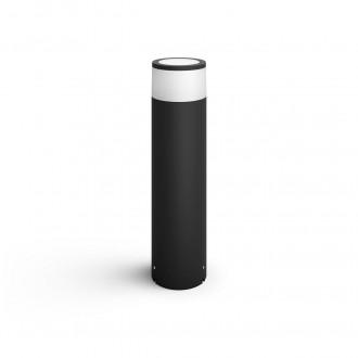 PHILIPS 17437/30/P7 | PHILIPS-hue-Calla Philips podna 24V EXT. hue smart rasvjeta cilindar 40cm jačina svjetlosti se može podešavati, sa podešavanjem temperature boje, promjenjive boje 1x LED 600lm 2700 <-> 6500K IP65 crno, bijelo