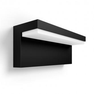 PHILIPS 17456/30/P7 | PHILIPS-hue-Nyro Philips zidna hue smart rasvjeta četvorougaoni jačina svjetlosti se može podešavati, sa podešavanjem temperature boje, promjenjive boje 1x LED 1000lm 2700 <-> 6500K IP44 crno, bijelo
