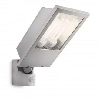 PHILIPS 17516/87/16 | Botanic Philips reflektor svjetiljka sa senzorom 2x E27 2860lm 2700K IP44 svjetlo siva
