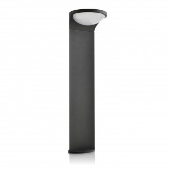PHILIPS 17809/93/16 | Dusk Philips podna svjetiljka 84cm svjetlosni senzor - sumračni prekidač solarna baterija 1x LED 100lm 2700K IP44 antracit