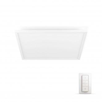 PHILIPS 32162/31/P5 | PHILIPS-hue-Aurelle Philips stropne svjetiljke hue smart rasvjeta četvrtast daljinski upravljač jačina svjetlosti se može podešavati, sa podešavanjem temperature boje 1x LED 4200lm 2200 <-> 6500K bijelo