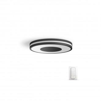 PHILIPS 32610/30/P7 | PHILIPS-hue_Being Philips stropne svjetiljke hue smart rasvjeta okrugli daljinski upravljač jačina svjetlosti se može podešavati, sa podešavanjem temperature boje 1x LED 2400lm 2200 <-> 6500K crno, bijelo