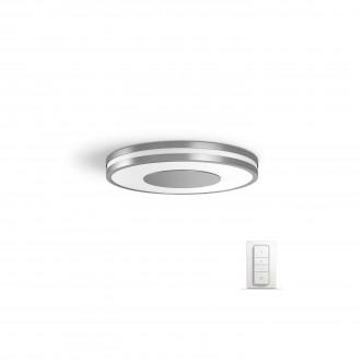 PHILIPS 32610/48/P7 | PHILIPS-hue-Being Philips stropne svjetiljke hue smart rasvjeta okrugli daljinski upravljač jačina svjetlosti se može podešavati, sa podešavanjem temperature boje 1x LED 2400lm 2200 <-> 6500K aluminij, bijelo