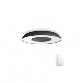 PHILIPS 32613/30/P7 | PHILIPS-hue_Still Philips stropne svjetiljke hue smart rasvjeta okrugli daljinski upravljač jačina svjetlosti se može podešavati, sa podešavanjem temperature boje 1x LED 2400lm 2200 <-> 6500K crno, bijelo
