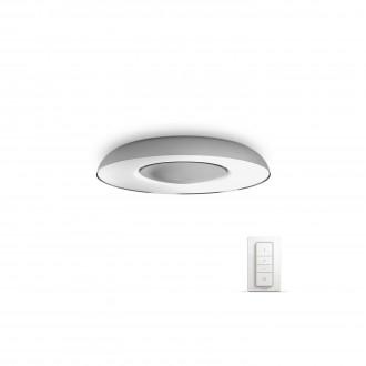 PHILIPS 32613/48/P7 | PHILIPS-hue-Still Philips stropne svjetiljke hue smart rasvjeta okrugli daljinski upravljač jačina svjetlosti se može podešavati, sa podešavanjem temperature boje 1x LED 2400lm 2200 <-> 6500K aluminij, bijelo