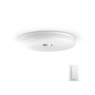 PHILIPS 33064/31/P7 | PHILIPS-hue-Struana Philips stropne svjetiljke hue smart rasvjeta okrugli daljinski upravljač jačina svjetlosti se može podešavati, sa podešavanjem temperature boje 1x LED 2400lm 2200 <-> 6500K IP44 bijelo
