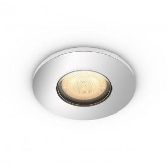 PHILIPS 34175/11/P9 | PHILIPS-hue-Adore Philips ugradbene svjetiljke hue smart rasvjeta okrugli jačina svjetlosti se može podešavati, sa podešavanjem temperature boje, Bluetooth Ø94mm 1x GU10 350lm 2200 <-> 6500K krom