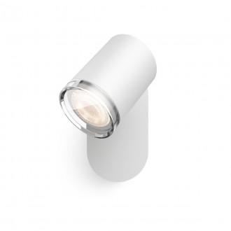 PHILIPS 34178/31/P6 | PHILIPS-hue-Adore Philips spot hue DIM portable prekidač + hue smart rasvjeta okrugli daljinski upravljač jačina svjetlosti se može podešavati, sa podešavanjem temperature boje, Bluetooth 1x GU10 350lm 2200 <-> 6500K IP44 bijel