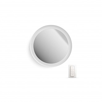 PHILIPS 34357/31/P7 | PHILIPS-hue_Adore Philips zidna hue smart rasvjeta daljinski upravljač jačina svjetlosti se može podešavati, sa podešavanjem temperature boje, promjenjive boje 1x LED 2400lm 2200 <-> 6500K IP44 bijelo, zrcalo