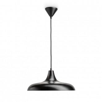 PHILIPS 36032/30/E7 | Durham Philips visilice svjetiljka 1x E27 crno, crveni bakar