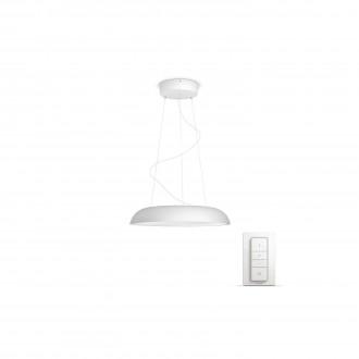PHILIPS 40233/31/P7 | PHILIPS-hue_Amaze Philips visilice hue smart rasvjeta okrugli daljinski upravljač jačina svjetlosti se može podešavati, sa podešavanjem temperature boje 1x LED 3000lm 2200 <-> 6500K bijelo