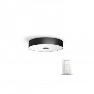 PHILIPS 40340/30/P7 | PHILIPS-hue-Fair Philips stropne svjetiljke hue smart rasvjeta okrugli daljinski upravljač jačina svjetlosti se može podešavati, sa podešavanjem temperature boje 1x LED 3000lm 2200 <-> 6500K crno, bijelo