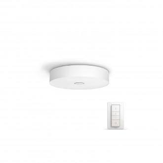 PHILIPS 40340/31/P7 | PHILIPS-hue-Fair Philips stropne svjetiljke hue smart rasvjeta okrugli daljinski upravljač jačina svjetlosti se može podešavati, sa podešavanjem temperature boje 1x LED 3000lm 2200 <-> 6500K bijelo