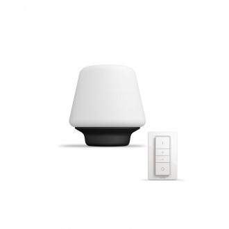 PHILIPS 40801/30/P7 | PHILIPS-hue_Wellness Philips stolna hue smart rasvjeta okrugli 19,3cm daljinski upravljač jačina svjetlosti se može podešavati, sa podešavanjem temperature boje 1x E27 806lm 2200 <-> 6500K crno, bijelo