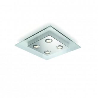 PHILIPS 40925/60/16 | MatrixP Philips stropne svjetiljke svjetiljka jačina svjetlosti se može podešavati 4x LED 2000lm 2700K aluminij, prozirno