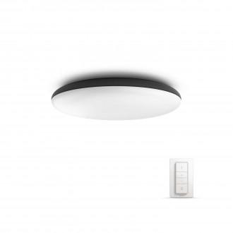 PHILIPS 40967/30/P7   PHILIPS-hue-Cher Philips stropne svjetiljke hue smart rasvjeta okrugli daljinski upravljač jačina svjetlosti se može podešavati, sa podešavanjem temperature boje 1x LED 3000lm 2200 <-> 6500K crno, bijelo