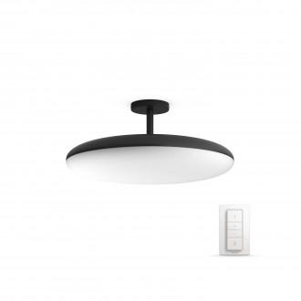 PHILIPS 40969/30/P7 | PHILIPS-hue_Cher Philips stropne svjetiljke hue smart rasvjeta okrugli daljinski upravljač jačina svjetlosti se može podešavati, sa podešavanjem temperature boje 1x LED 3000lm 2200 <-> 6500K crno, bijelo