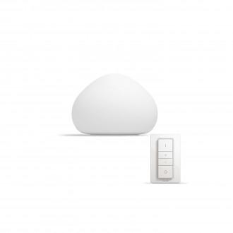 PHILIPS 44401/56/P7 | PHILIPS-hue_Wellner Philips stolna hue smart rasvjeta okrugli 19,2cm daljinski upravljač jačina svjetlosti se može podešavati, sa podešavanjem temperature boje 1x E27 806lm 2200 <-> 6500K bijelo