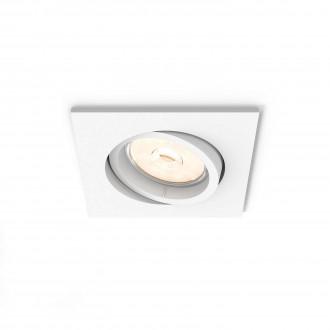 PHILIPS 50191/31/PN | Enneper Philips ugradbena svjetiljka četvrtast pomjerljivo 1x GU10 bijelo