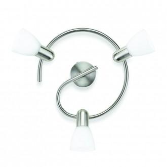 PHILIPS 50233/17/E7 | Burlap Philips zidna, stropne svjetiljke svjetiljka elementi koji se mogu okretati 3x E14 kromni mat, bijelo