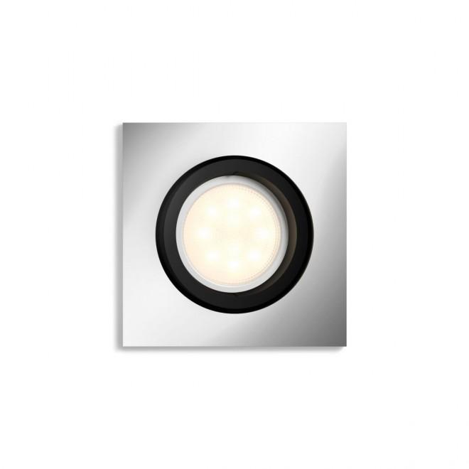 PHILIPS 50421/48/P9 | PHILIPS-hue-Milliskin Philips ugradbene svjetiljke hue smart rasvjeta četvrtast jačina svjetlosti se može podešavati, sa podešavanjem temperature boje, Bluetooth, pomjerljivo 90x90mm 1x GU10 350lm 2200 <-> 6500K aluminij