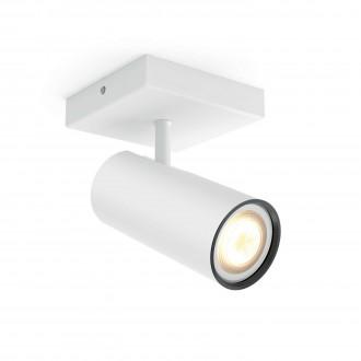 PHILIPS 50461/31/P8 | PHILIPS-hue_Buratto Philips zidna, stropne svjetiljke hue smart rasvjeta okrugli jačina svjetlosti se može podešavati, sa podešavanjem temperature boje 1x GU10 250lm 2200 <-> 6500K bijelo