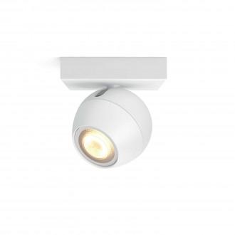 PHILIPS 50471/31/P8 | PHILIPS-hue-Buckram Philips zidna, stropne svjetiljke hue smart rasvjeta okrugli jačina svjetlosti se može podešavati, sa podešavanjem temperature boje 1x GU10 250lm 2200 <-> 6500K bijelo