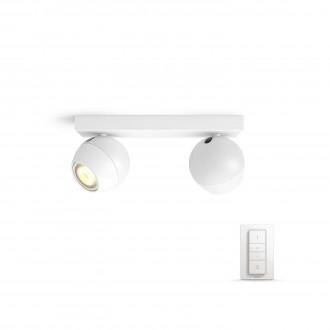 PHILIPS 50472/31/P7 | PHILIPS-hue_Buckram Philips zidna, stropne svjetiljke hue smart rasvjeta okrugli daljinski upravljač jačina svjetlosti se može podešavati, sa podešavanjem temperature boje 2x GU10 500lm 2200 <-> 6500K bijelo