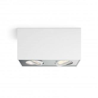 PHILIPS 50492/31/P0 | Box Philips stropne svjetiljke WarmGlow svjetiljka četvorougaoni jačina svjetlosti se može podešavati, izvori svjetlosti koji se mogu okretati 2x LED 1000lm 2200 <-> 6500K bijelo, sivo