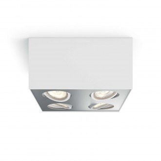 PHILIPS 50494/31/P0 | Box Philips stropne svjetiljke WarmGlow svjetiljka četvorougaoni jačina svjetlosti se može podešavati, izvori svjetlosti koji se mogu okretati 4x LED 2000lm 2200 <-> 6500K bijelo, sivo