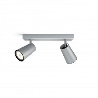 PHILIPS 50572/48/PN | Paisley Philips zidna, stropne svjetiljke svjetiljka okrugli elementi koji se mogu okretati 2x GU10 aluminij, crno