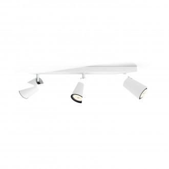 PHILIPS 50573/31/PN | Paisley Philips zidna, stropne svjetiljke svjetiljka okrugli elementi koji se mogu okretati 3x GU10 bijelo, crno