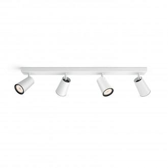 PHILIPS 50574/31/PN | Paisley Philips zidna, stropne svjetiljke svjetiljka okrugli elementi koji se mogu okretati 4x GU10 bijelo, crno