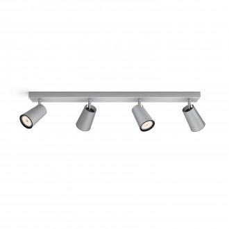 PHILIPS 50574/48/PN | Paisley Philips zidna, stropne svjetiljke svjetiljka okrugli elementi koji se mogu okretati 4x GU10 aluminij, crno