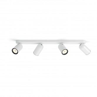 PHILIPS 50584/31/PN | Pongee Philips zidna, stropne svjetiljke svjetiljka okrugli elementi koji se mogu okretati 4x GU10 bijelo, crno