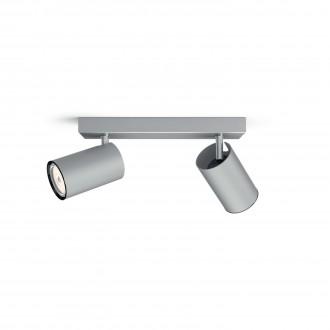 PHILIPS 50592/48/PN | Kosipo Philips zidna, stropne svjetiljke svjetiljka okrugli elementi koji se mogu okretati 2x GU10 aluminij