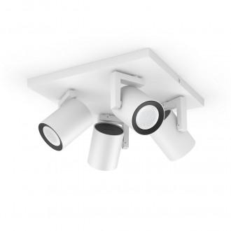 PHILIPS 50624/31/P7 | PHILIPS-hue-Argenta Philips spot hue smart rasvjeta pravotkutnik jačina svjetlosti se može podešavati, promjenjive boje, sa podešavanjem temperature boje, Bluetooth 4x GU10 1400lm 2200 <-> 6500K bijelo