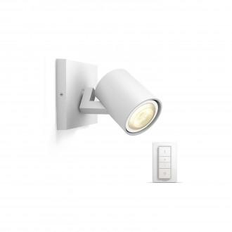 PHILIPS 53090/31/P7 | PHILIPS-hue_Runner Philips zidna, stropne svjetiljke hue smart rasvjeta okrugli daljinski upravljač jačina svjetlosti se može podešavati, sa podešavanjem temperature boje 1x GU10 250lm 2200 <-> 6500K bijelo